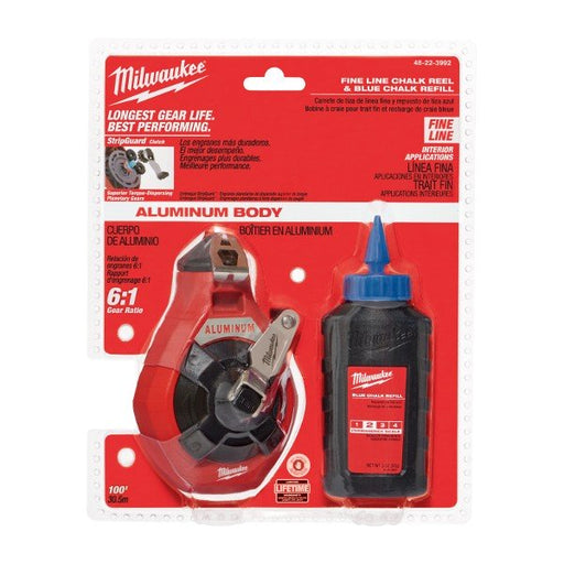 Milwaukee Fine Line Chalk Reel w Blue Chalk  48223992