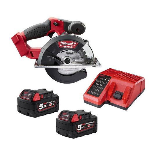 Milwaukee M18 FUEL Metal Saw, 5.0Ah REDLITHIUM Kit M18FMCS-502BA