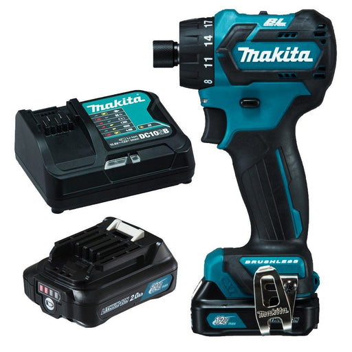 "Makita 12V Max BRUSHLESS 1/4"" Hex Chuck Driver Drill Kit  DF032DSAE"