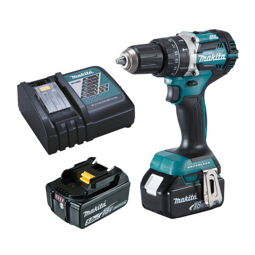 Makita 18V COMPACT BRUSHLESS Heavy Duty Hammer Driver Drill Kit  DHP484RTE