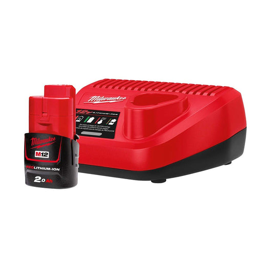 Milwaukee M12 Starter Pack -  1 x 2.0Ah Battery, Charger M12SP-201B