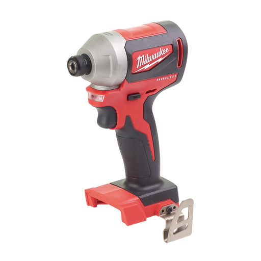"Milwaukee M18 Compact Brushless 1/4"" Hex Impact Driver - Tool only M18CBLID-0"
