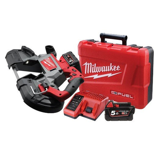 Milwaukee M18 FUEL 125mm DeepCut BandSaw, 5.0Ah RED LITHIUM Kit M18CBS125-502C