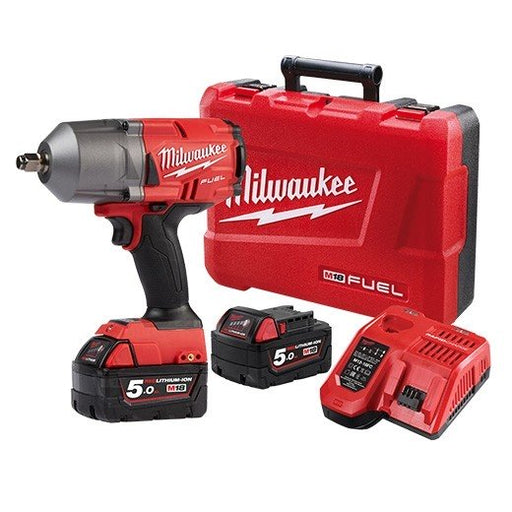 "Milwaukee M18 FUEL Gen II 1/2"" High Torque Impact Wrench Friction Ring- 5Ah Kit M18FHIWF12-502C"