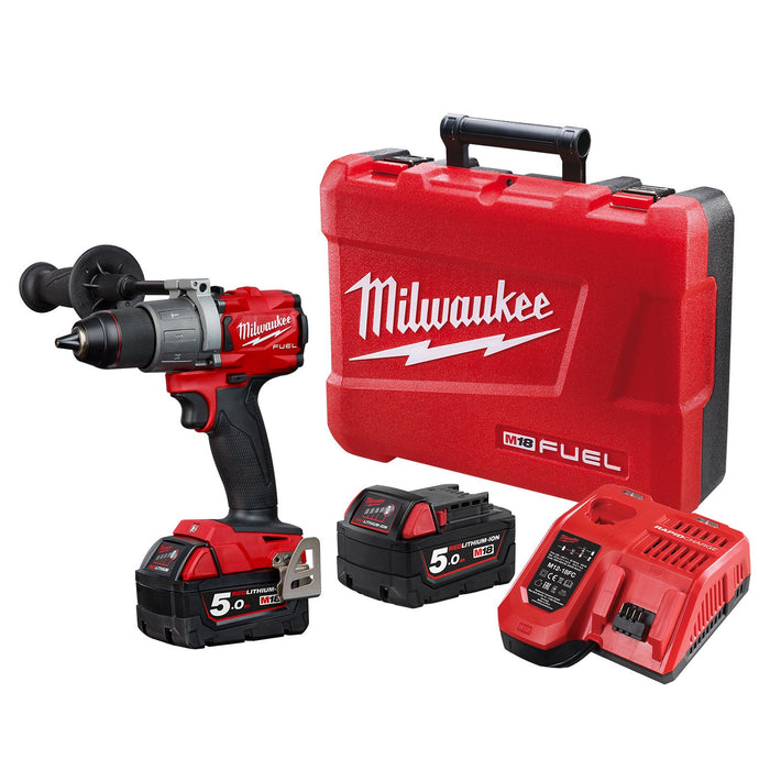 Milwaukee M18 FUEL 13mm Hammer Drill/Driver - 5.0Ah Kit M18FPD2-502C