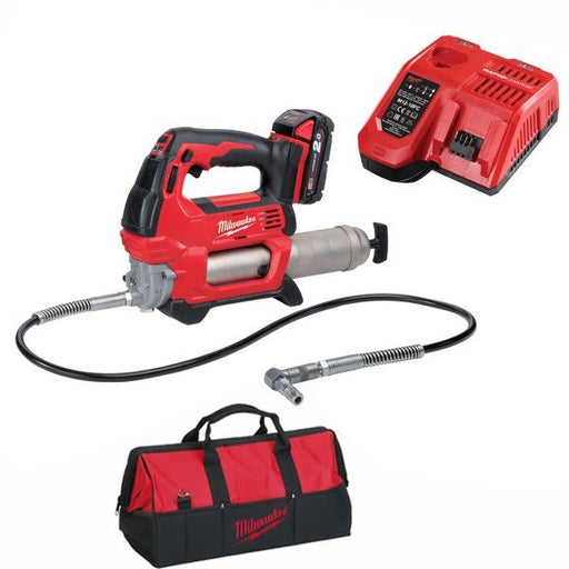 Milwaukee M18 Cordless Grease Gun - 2.0Ah Kit M18GG-201B