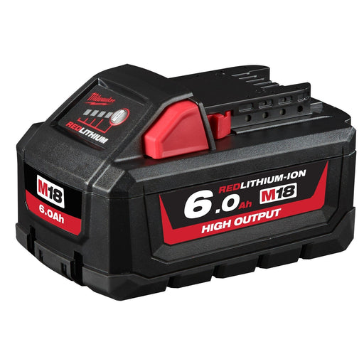 Milwaukee M18 REDLITHIUM High Output 6.0Ah Battery Pack - M18HB6
