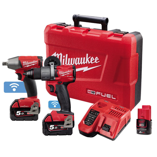Milwaukee M18 ONE-KEY Power Pack 2B2 (M18ONEPD2-0, M18ONEIWF12-0)  Bonus M12B2 M18ONEPP2B2-502C