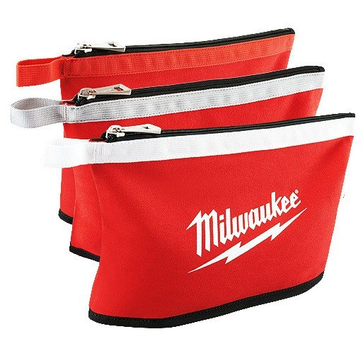 Milwaukee Zipper Pouches 3pk  48228193