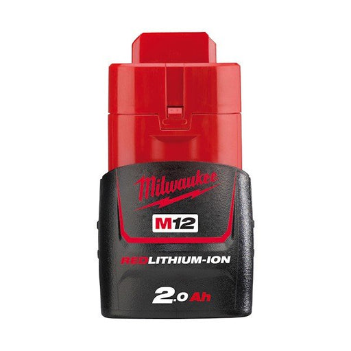 Milwaukee M12 2.0Ah Compact Battery - Carton Packaging M12B2