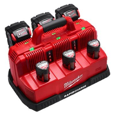 Milwaukee M12-M18 Multi-Bay Rapid Charge Station M12-18C3