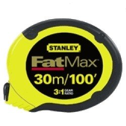 Stanley 34-138 30m FatMax 3:1 Gear Ratio Tape Measure