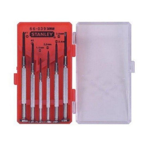 Stanley 66-039 6 Piece Precision Jewellers Screwdriver Set