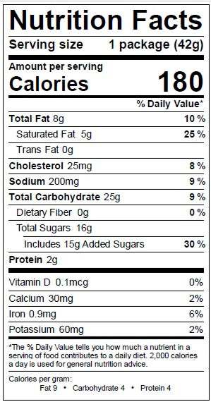 Milk Chocolate Stroopwafel Nutrition Facts