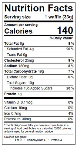 Traditional Stroopwafel Nutrition Facts