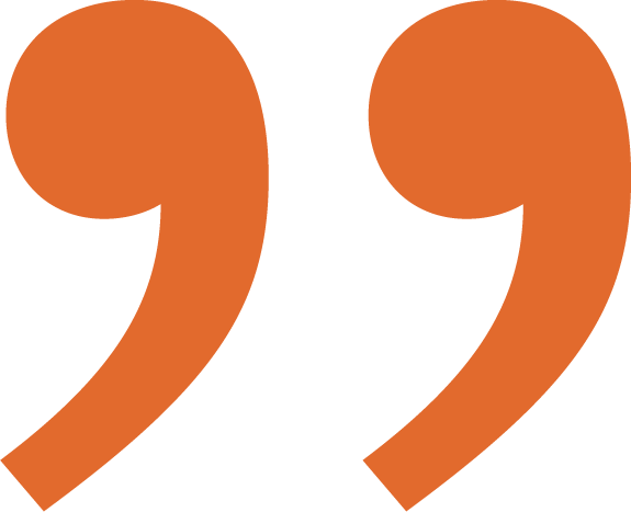 orange quotemark