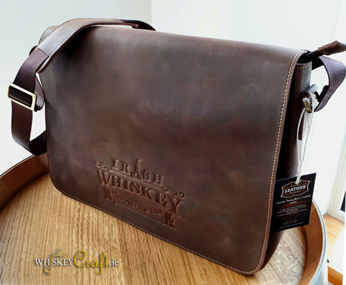 Classic Irish Whiskey Leather Satchel