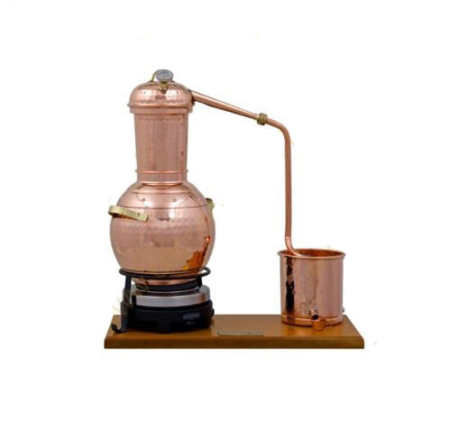 2,5 L PREMIUM ALEMBIC STILL, THERMOMETER & ELECTRIC PLATE