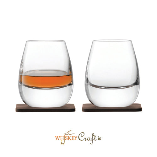 Islay Whiskey Tumbler Set & Wallnut Coaster