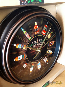 Irish Whiskey Wall Clock