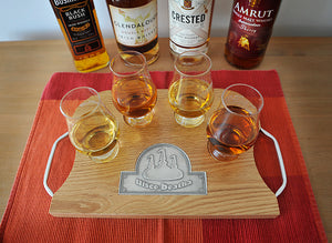 Oak & Pewter Serving Tray