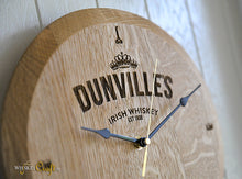 Oak Barrel Head Wall Clock