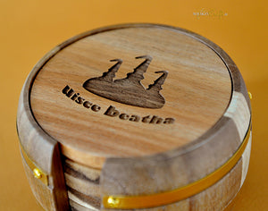 Barrel Coaster Set