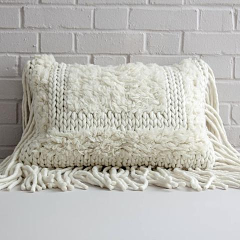 Fringed Wool Cushion Cover - SOLD OUT