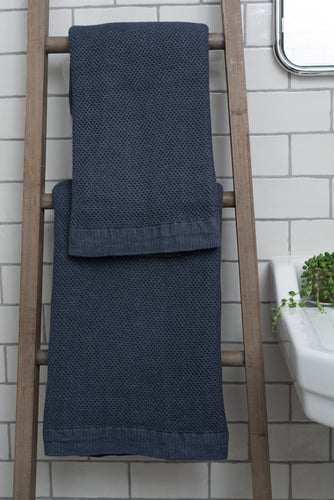 Vintage Waffle Shower Towel - two colours available