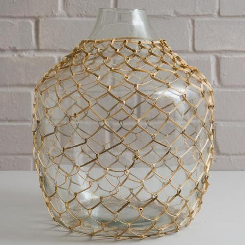 Wicker Glass Vase - SOLD OUT