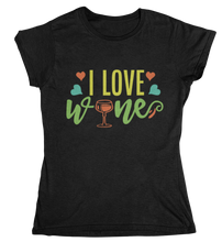 Lade das Bild in den Galerie-Viewer, i love wine - T-Shirt Frauen