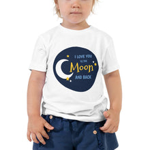 "Lade das Bild in den Galerie-Viewer, T-Shirt für Zwillinge ""love you to the moon and back"""