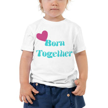 "Lade das Bild in den Galerie-Viewer, T-Shirt für Zwillinge ""born together"" Blau"