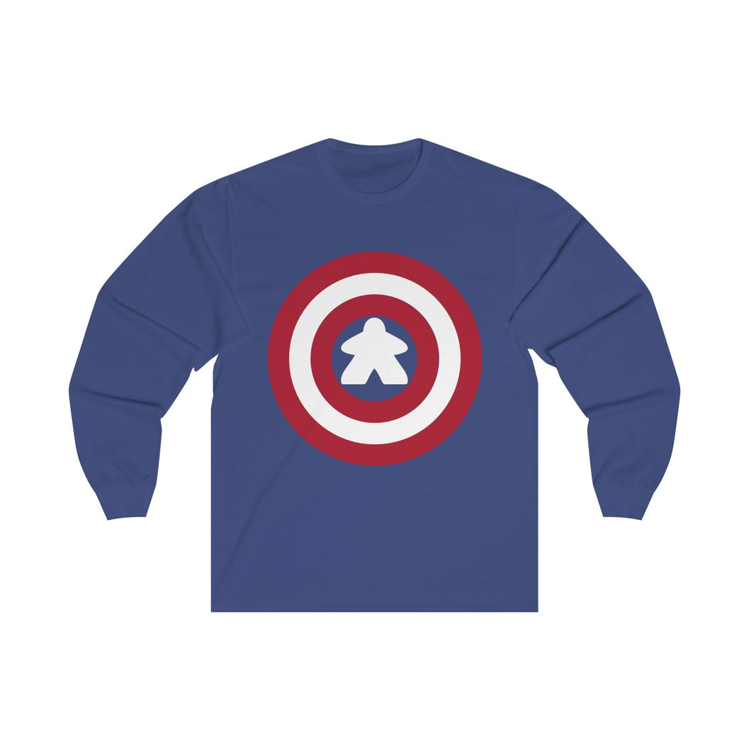 Captain Meeple Long Sleeve Tee