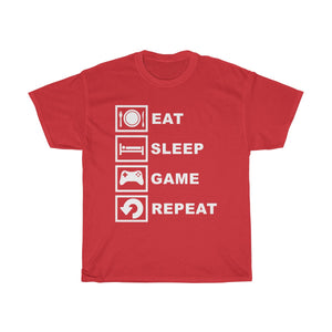 Eat Sleep Play Video Games Repeat Cotton Tee T-Shirt
