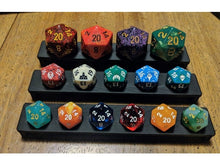 Load image into Gallery viewer, Dice Display Benches for Dice Collectors - Dungeons and Dragons