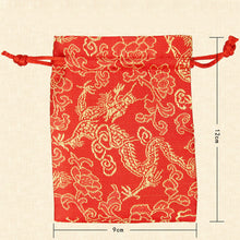 Load image into Gallery viewer, Red and Gold Dragon Dice Bag