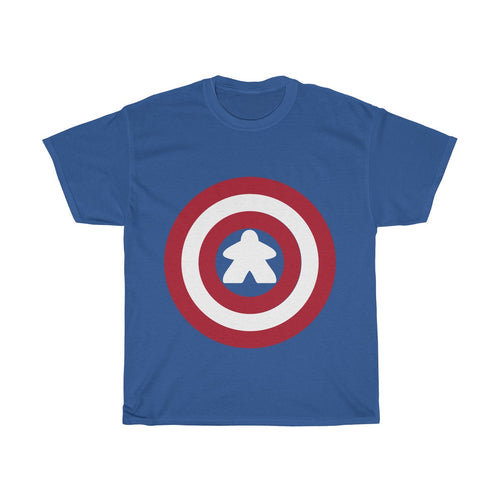 Captain Meeple Heavy Cotton Tee