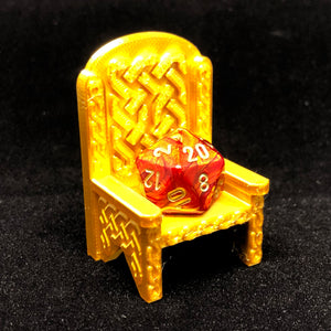 Dice Throne -  Celtic Knot work and Gothic Styles - Dungeons and Dragons - Well Behaving Dice