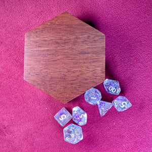 Wood Dice Case - Magnetized Storage Container - Fits 7 16mm Dice