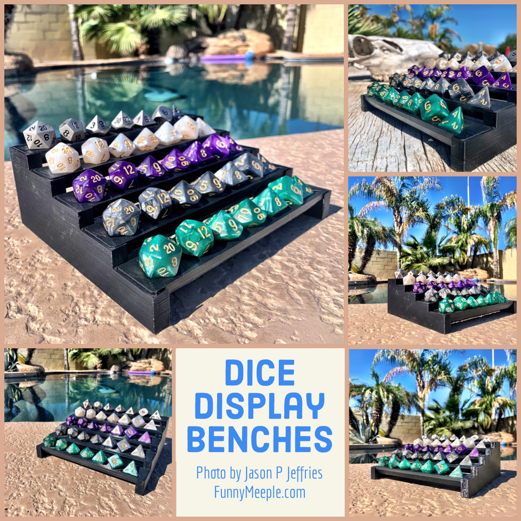 Dice Display Benches for Dice Collectors - Dungeons and Dragons