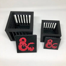 Load image into Gallery viewer, DnD Dice Jail Prison for Misbehaving Dice - 3D Printed - Fits 8-36 Dice - Gift