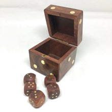 Load image into Gallery viewer, Wood D6 Dice Case Storage Container - Handmade Fits 12x 16mm d6 - DnD Dice Box Giant Die of Holding