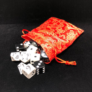 Red and Gold Dragon Dice Bag