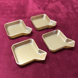 Stackable Board Game Token Trays with Bagging Funnel - Set of Eight (8)