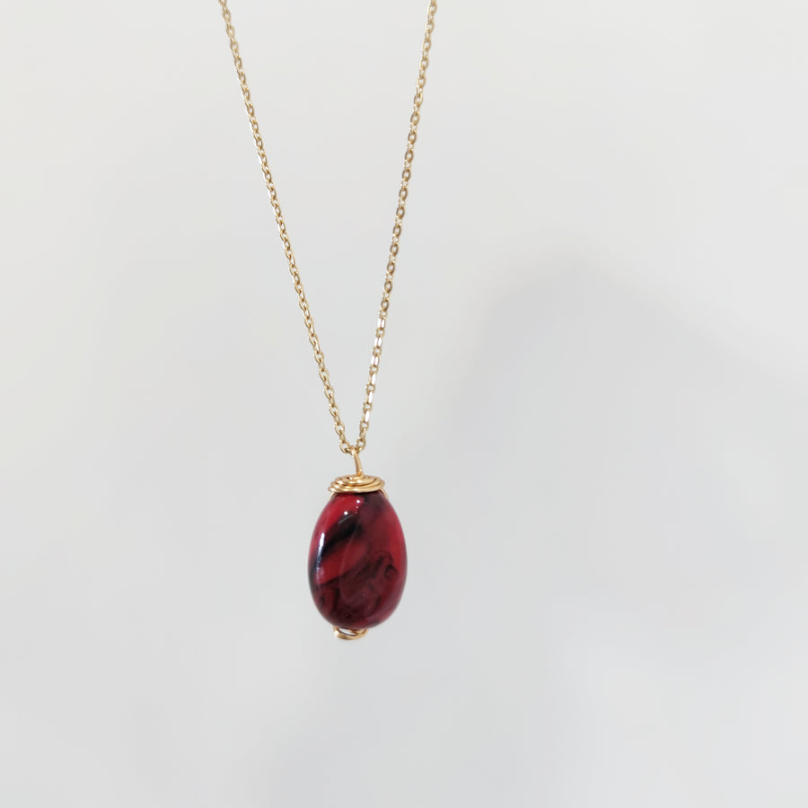 Red minimal necklaces