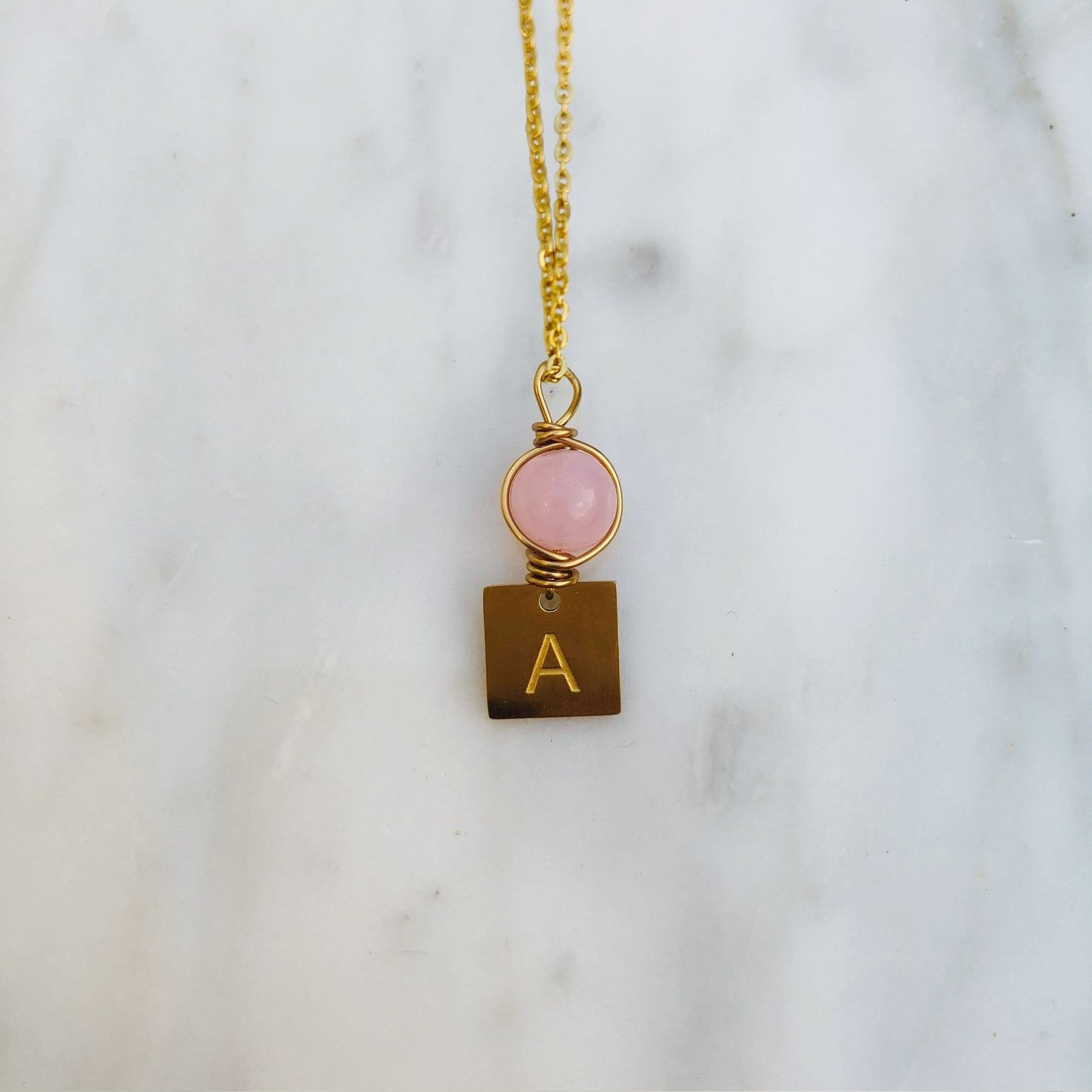 'A' initial chain necklace