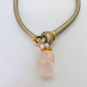 Rose Quartz short necklaces