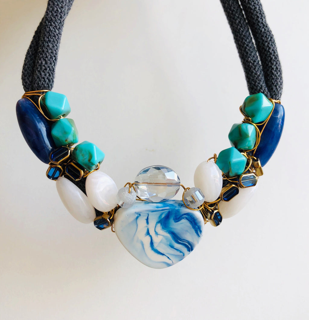 Mediterranean blue necklace