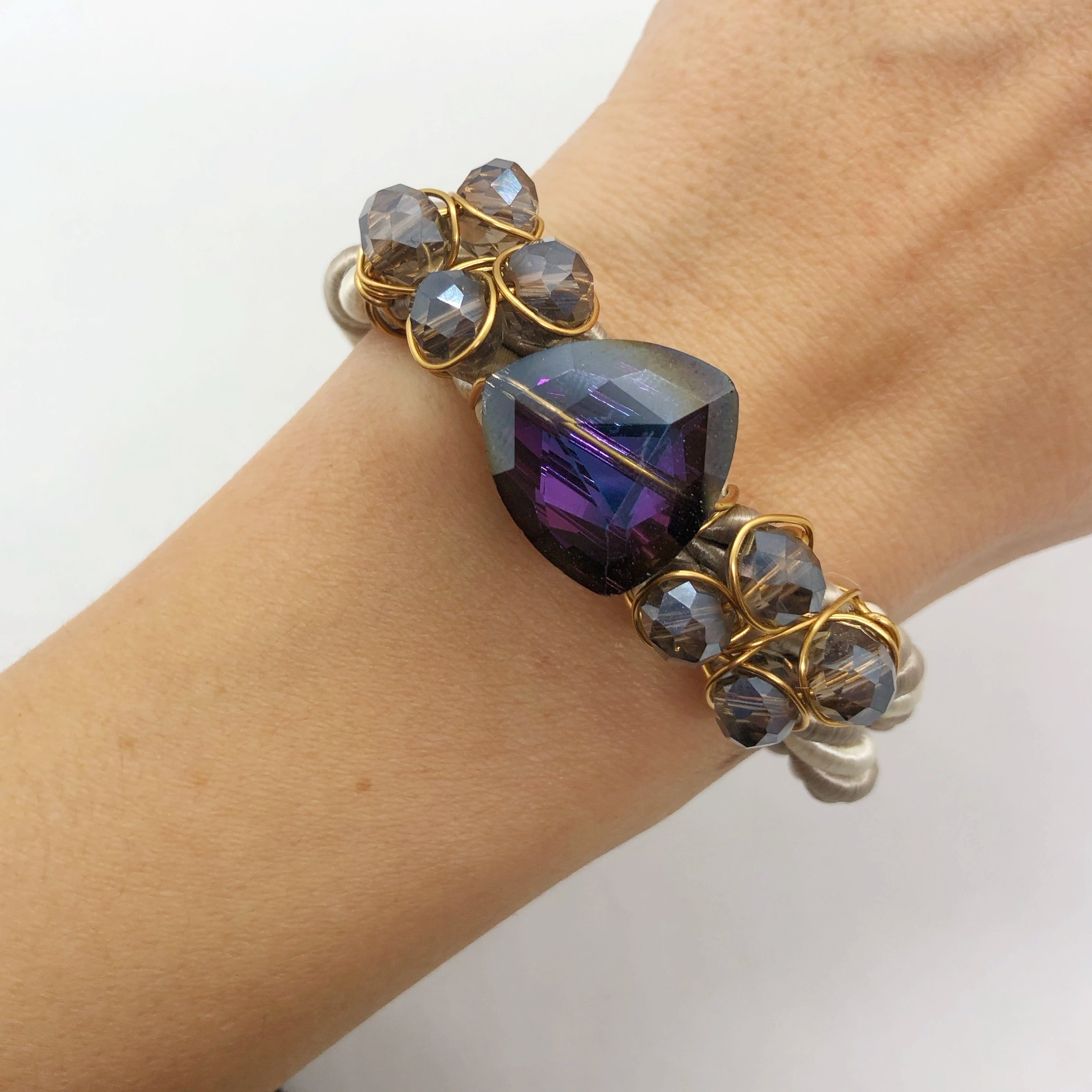 Purple two-toned bracelet